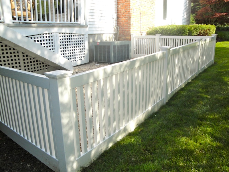 we also install pvc railings with decorative spindles for steps raised porches and decks